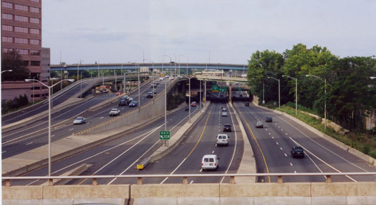 I-91 North, the connection to the MA/CT border