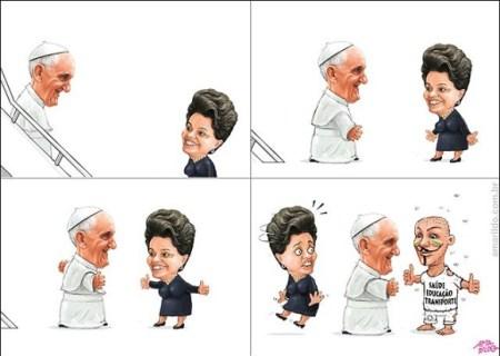 Papa-chega-ao-Brasil-por-Amarildo
