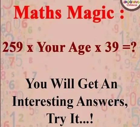 Math Magic Puzzel – You will get an interesting