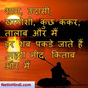 Shaam facebook poetry, hindi Shaam status, status in hindi for Shaam , शामआती है तो ये सोच के डर जाता हूँ  आज की रात मेरे शहर पे भारी तो नहीं..!!