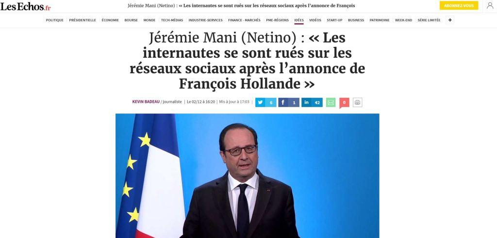 Les Echos, Jérémie Mani