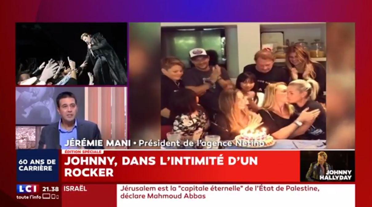 Jérémie Mani, CEO de Netino by Webhelp, sur LCI évoque Johnny Hallyday