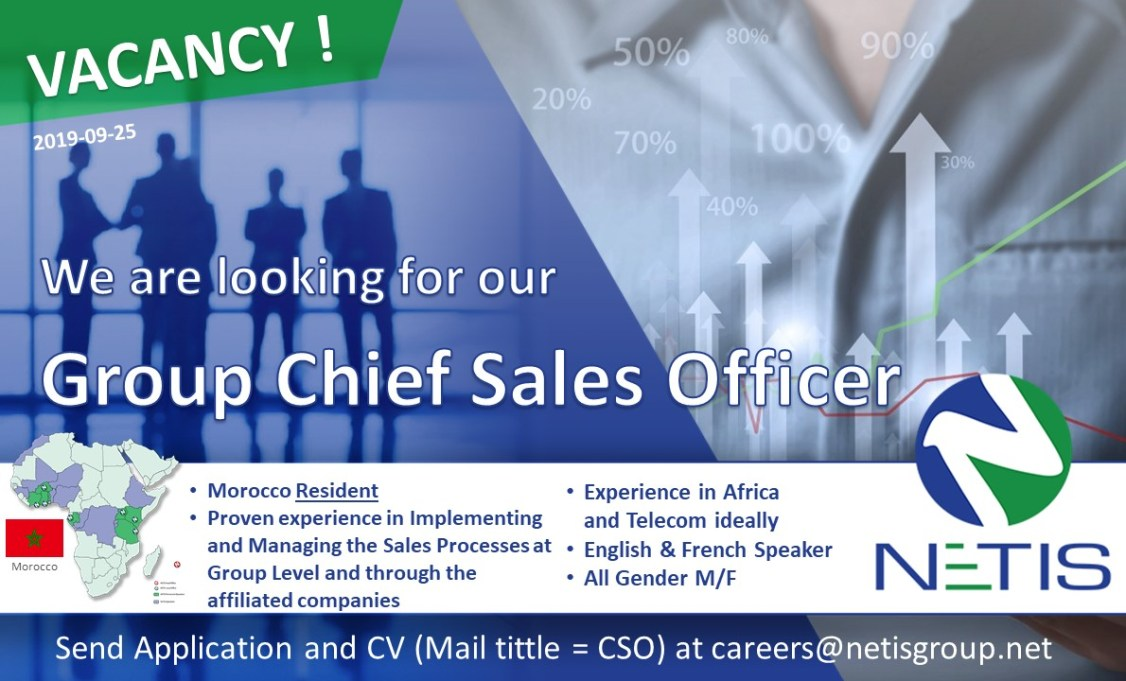 NETIS Group is hiring is Chief Sales Officer