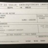 Un CV style billet de train...