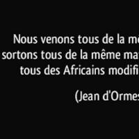 Tous des Africains modifiés par le temps (Jean d'Ormesson)...
