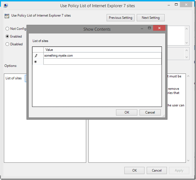 Add *subdomains* to the compatibility view list