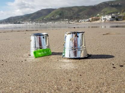 buckets on the beach