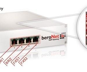 beroNet FXS & BRI VoIP Gateway