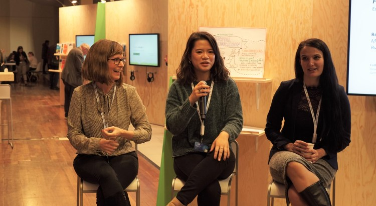 Jenna Fung is speaking at the sustainability corner at IGF for the discussion on the future skills and digital education