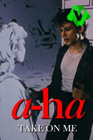 A-ha - Take On Me. Fotograma del video de AHA donde el cantante Morten Harket habla con el dibujo de una chica