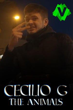 Cecilio G - The Animals. Cecilio G haciendo un gesto con los dedos
