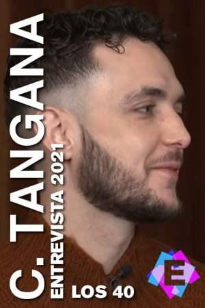 C. Tangana - En Los40 Entrevista. C. Tangana con barba con jersey marron en fondo marron