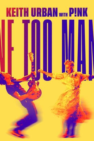 Keith Urban con guitarra en mano y Pink bailando