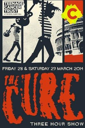 The Cure - Live At The Royal Albert Hall. un dibujo rompiendo una guitarra