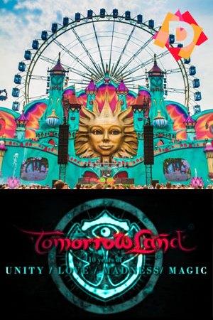 Esenario Tomorrowland - 10 Años de Unión Amor Locura y Magia -