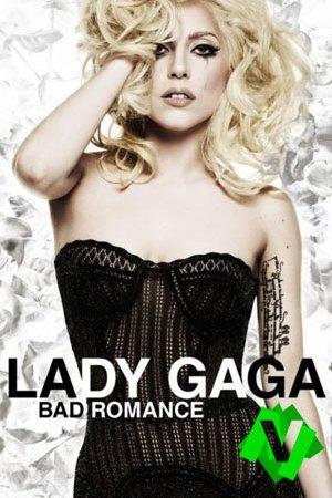 Lady Gaga con pelo rubio revuelto y corpiño negro