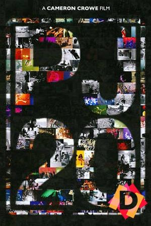Poster con fondo negro y letras en grande que pone PJ20