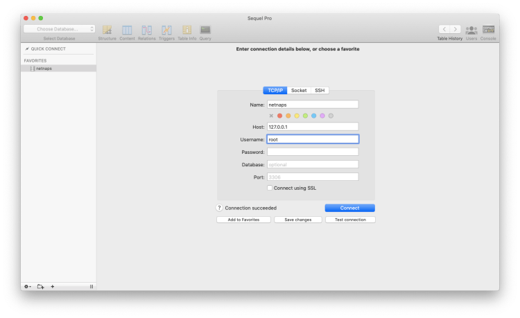 setting up sequel pro nightly builds for managing database on localhost