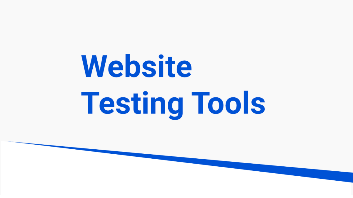 testing tools for websites