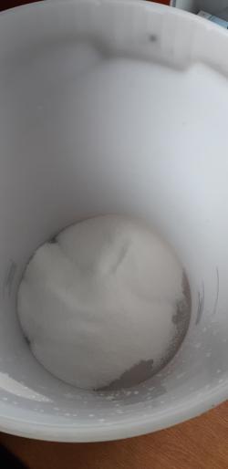 Step 1 - Add sugar to bucket