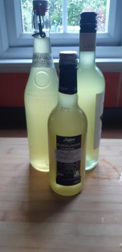 Step 17 - Label elderflower cordial bottles with date