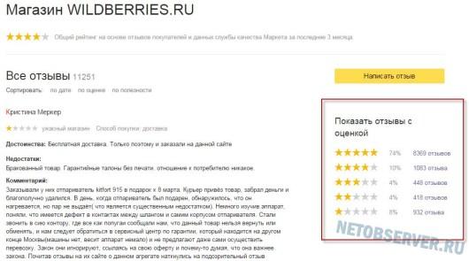 модный интернет магазин wildberries - отзывы на Яндекс-маркете