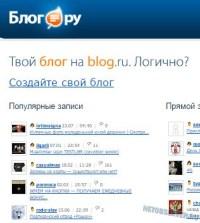 Массовый сервис блогов Blog.ru
