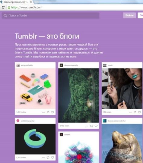 Сервис блогов Tumblr