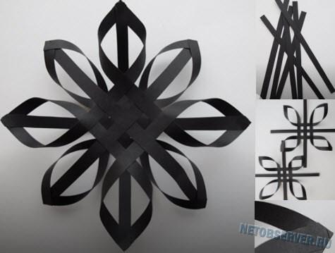 Схема 3D снежинки из бумаги своими руками - создаем новогоднее настроение