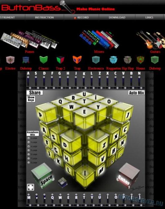 онлайн-лаунчпад: Музыкальный куб от Buttonbass