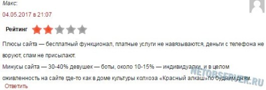 Отзыв по делу о сервисе Tabor.ru