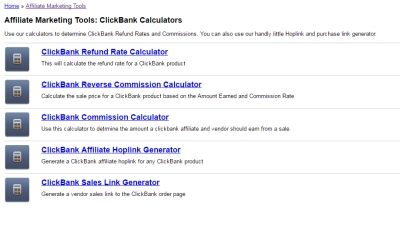 Cbengine clickbank calculators
