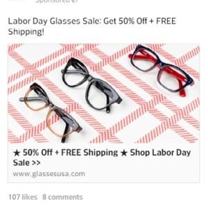 Glasses Ad