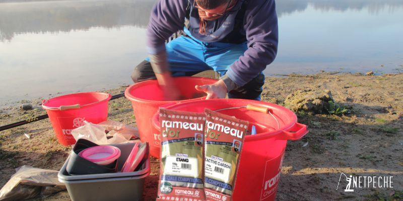 amorce pour la pêche de  gardons composée rameau réactive gardon et étang