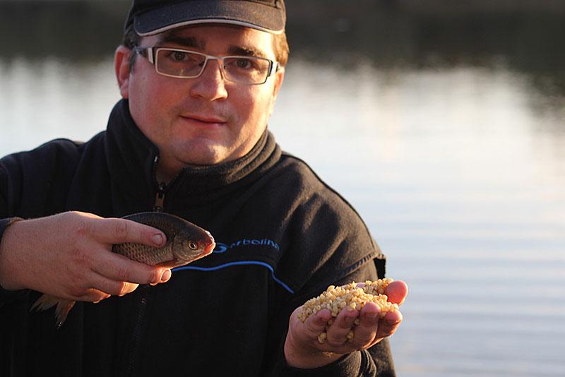 pêche au coup de gardons en hiver au blé pour le magazine Info Pêche