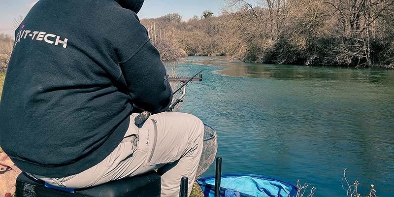pêche au feeder au printemps en eau claire