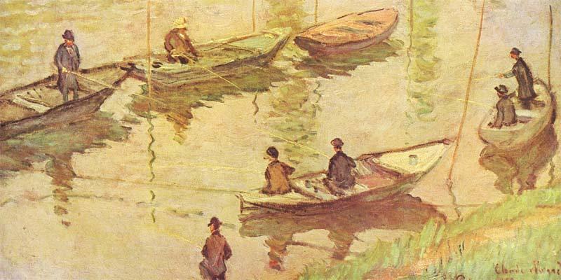 pêche au coup monet pêcheurs sur la seine