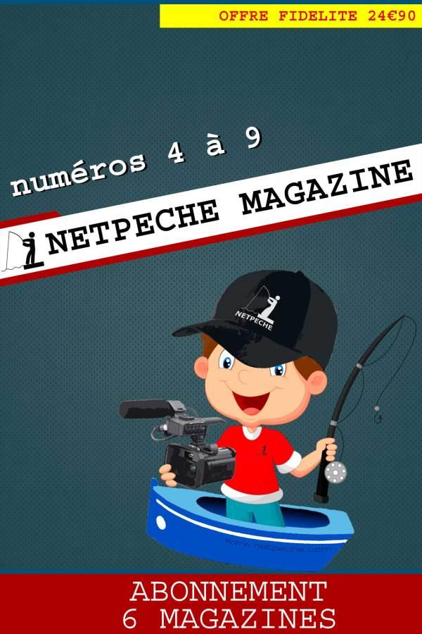 abonnement 1 an netpeche magazine 6 numéros de 4 à 9