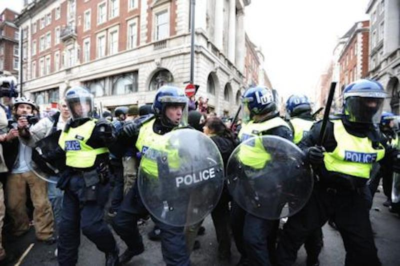 Emily Apple riot police mental health