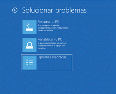 solucionador de problemas windows 10