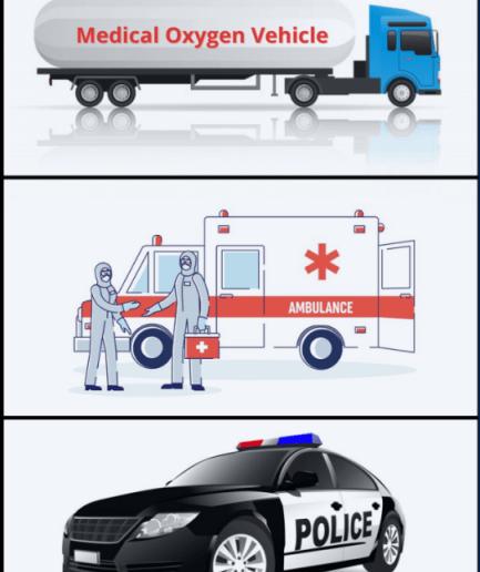 Oxygen vehicle & Emergency Transport