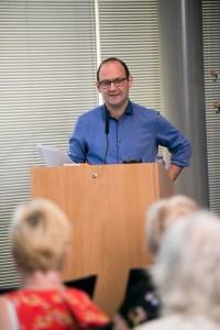 Alistair Reid presenting
