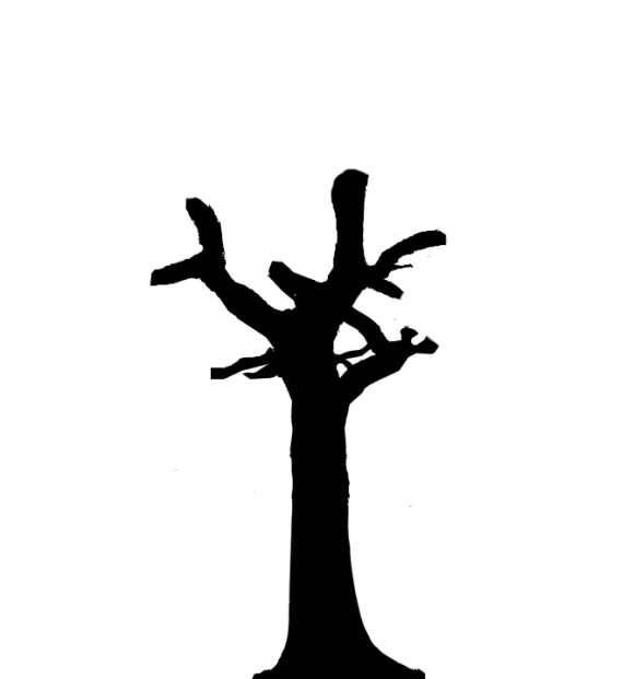 silhouette of a tree which has been endured crown topping