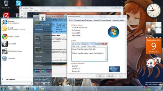 Win7 Desktop Transformation Pack