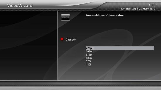 Xtrend ET9500 Videomodus