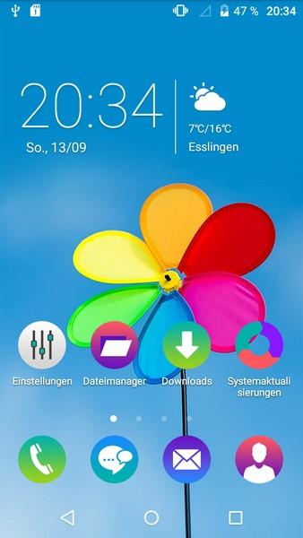 Wiko Rainbow Up Home-Screen