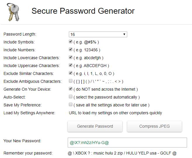 Secure Password Generator