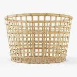 Wicker Basket Ikea Gaddis Diameter 50 3d Model In Household Items 3dexport