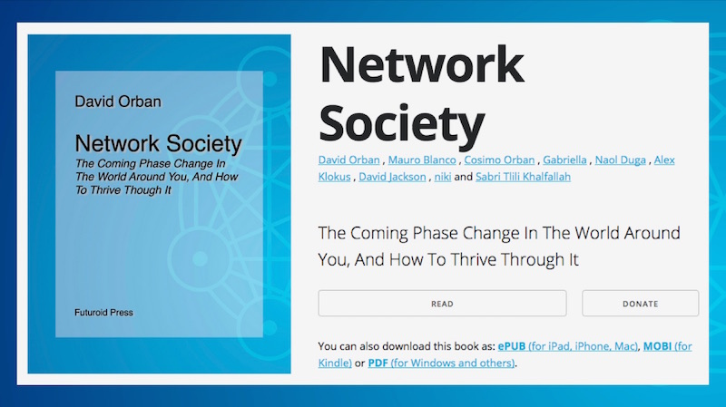 Collaboration on the forthcoming Network Society book