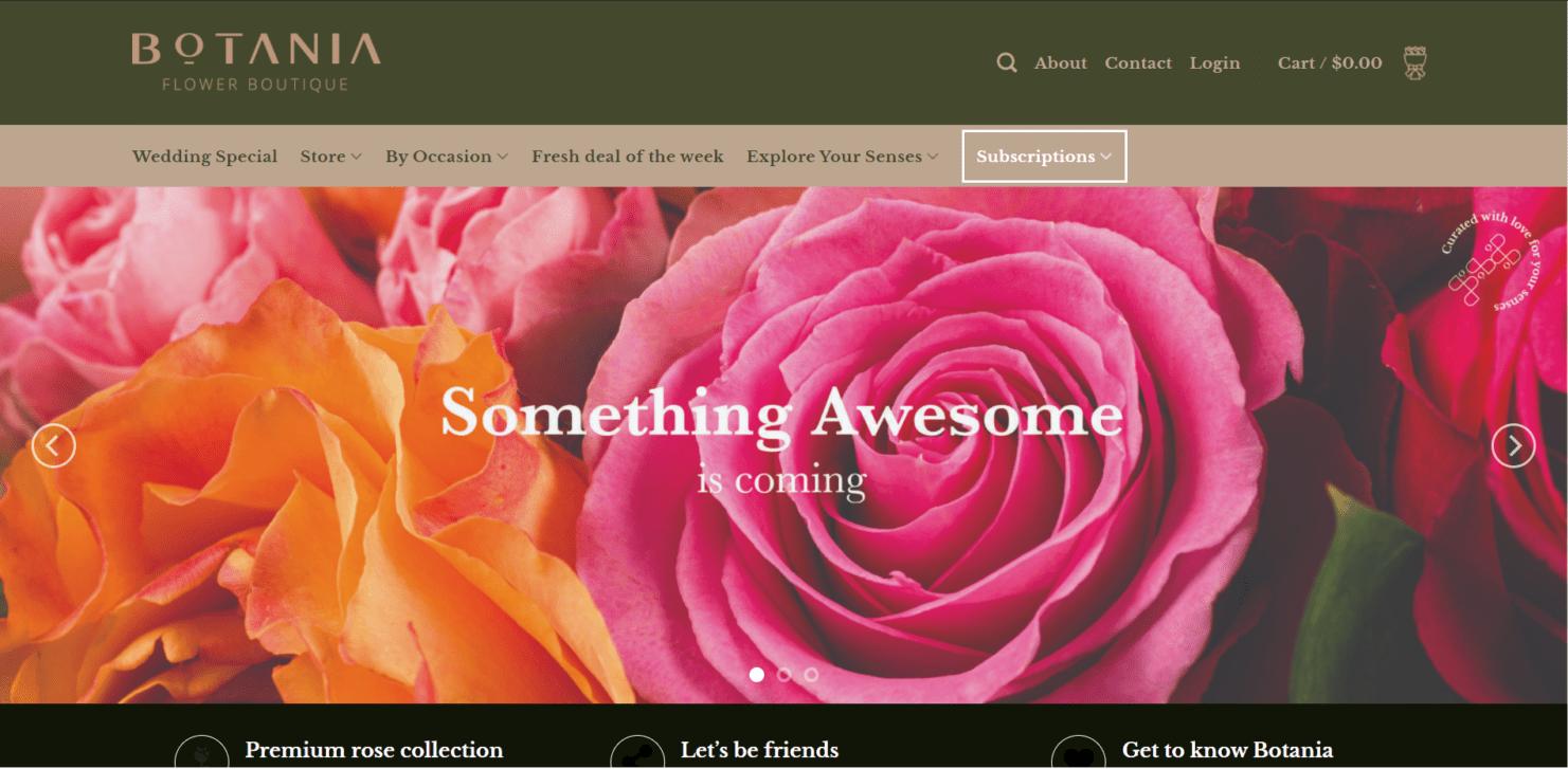 E-commerce botania